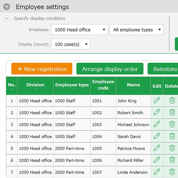 employee setting